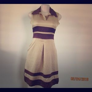 Marc Jacobs Silk Brown Dress